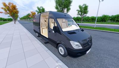 Doktor VIP Mercedes Sprinter 3D Model 3D Model