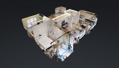 Şişli Nişantaşı Teşvikiye mahallesinde 120 m2 şık satılık daire 3D Model
